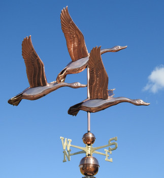 Large Deluxe Three Geese Weathervane