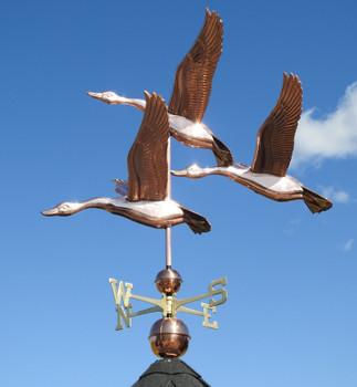 Large Deluxe Three Geese Weathervane