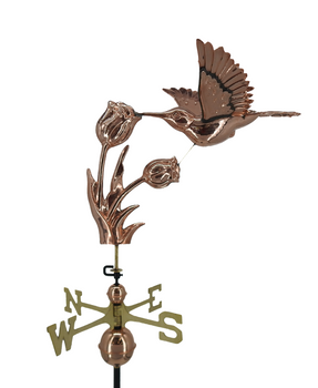 Hummingbird and Flower Weathervane