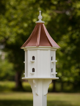 "14""W x 36""H - Octagon Dovecote Birdhouse with Perches"