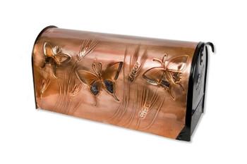 Summer Butterflies Copper Mailbox