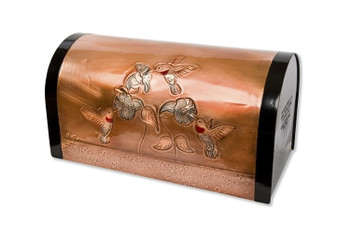 Classic Hummingbirds Copper Mailbox