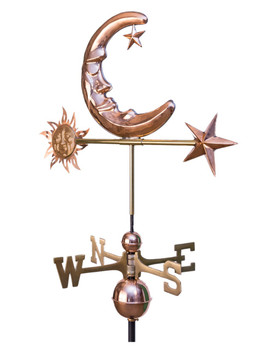 Moon Sun and Stars Weathervane