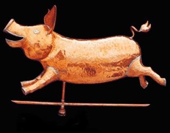 Happy Pig Weathervane