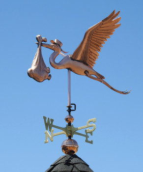 Stork and Baby Weathervane