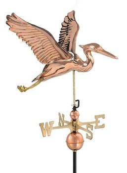 Sculpted Heron Weathervane
