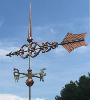 Large Deluxe Scroll Arrow Weathervane