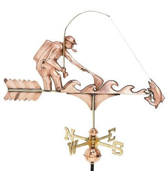 Fly Fisher Weathervane