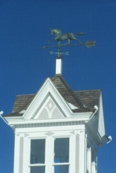 Large 3D Horse Weathervane with Arrow