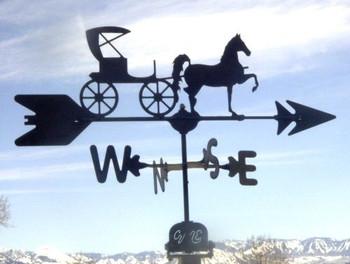 Horse and Buggy Weathervane