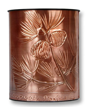 Longfellow Pines Copper Waste Basket