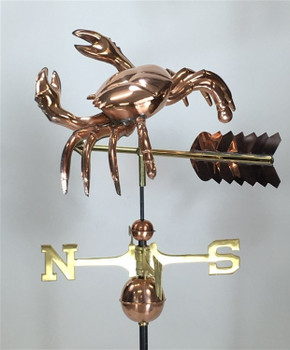 Full Bodied Crab Weathervane