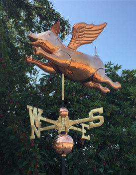 3D Flying Pig Weathervane