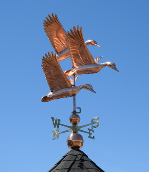 Three Ducks in Flight Weathervane