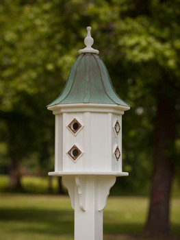 """14""""W x 36""""H - Octagon Dovecote Birdhouse with Bell Roof"""