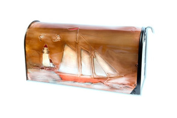 Schooner Copper Mailbox