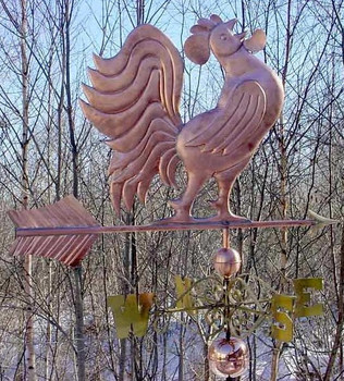 Jumbo Crowing Rooster Weathervane