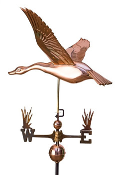 Flying Goose Weathervane With Cat Tail Directionals