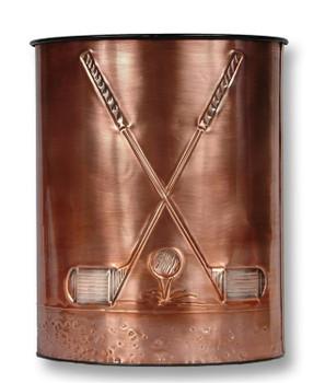 Golf Clubs Copper Waste Basket