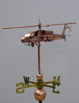 Apache Helicopter Weathervane