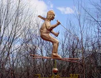 Skier Weathervane 1