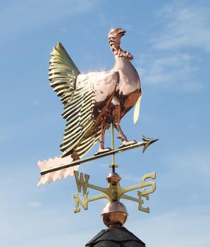 Strutting Turkey Weathervane With Brass Accents
