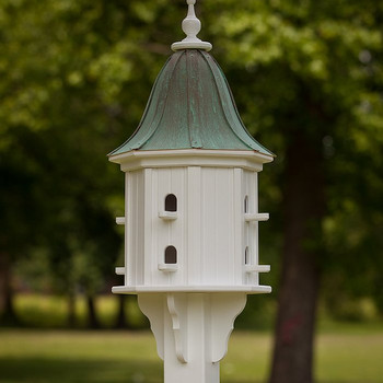 "14""W x 36""H - Octagon Dovecote Birdhouse with Perches and Bell Roof"