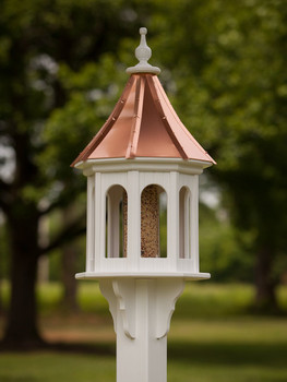 "14"" x 36"" Octagon Bird Feeder with Slope Roof"