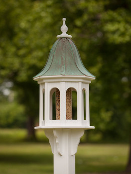 "14""x36"" Octagon Bird Feeder with Bell Roof"