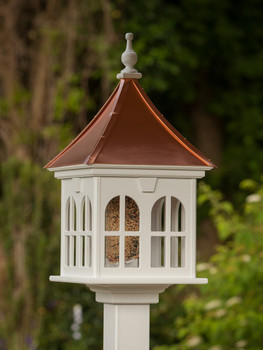 "14"" Square Double Window Bird Feeder"