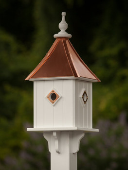 "10""x 28"" Square Blue Bird House"