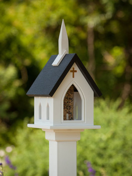 "10""x 22"" Vinyl Church Bird Feeder"