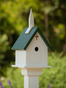 "10""x 22"" Vinyl Church Bird House"