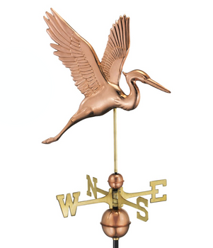 Graceful Blue Heron Weathervane