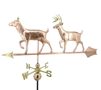Large Doe and Buck Weathervane
