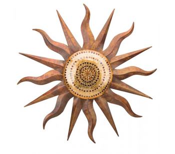 Rainbow Copper Sun Wall Decor