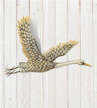 Metal Egret Wall Decor