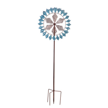 Wind Spinner, Copper and Verdigris