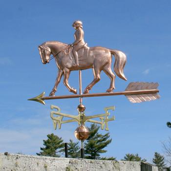 Quarter Horse and Rider Weathervane