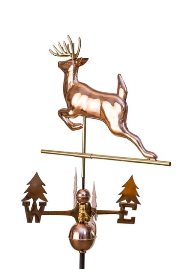 Leaping Buck Weathervane with tree directionals