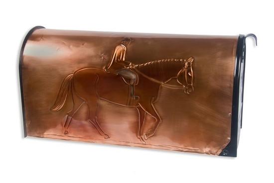 Fox Hunter Copper Mailbox