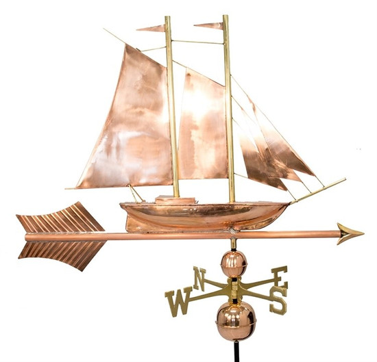 Jumbo Schooner Weathervane With Arrow