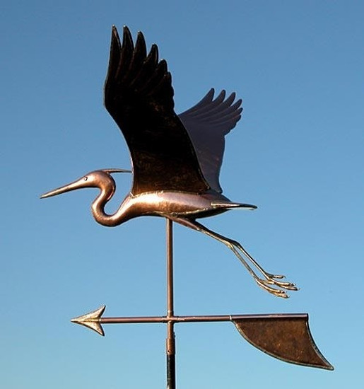 Handmade Large Heron Weathervane