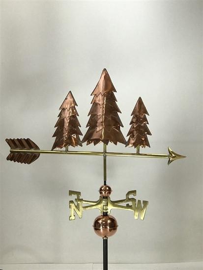 Three Pine Trees Weathervane