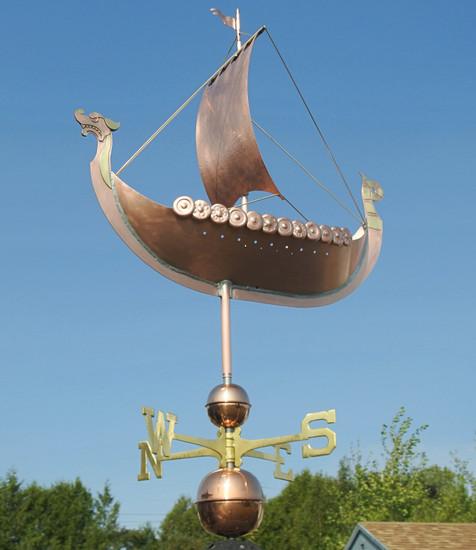 Large Viking Ship Weathervane