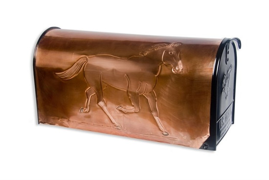 Rural Trotter Copper Mailbox