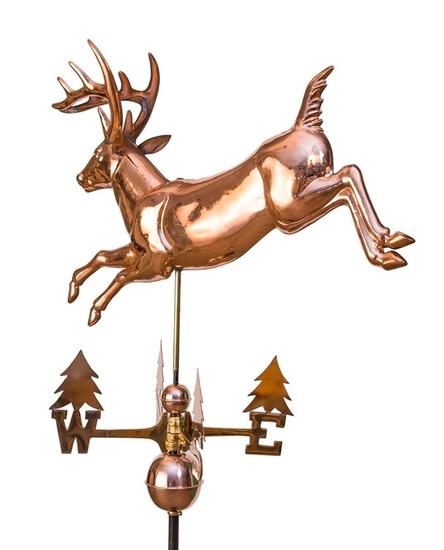Leaping Deer Weathervane with Tree Directionals