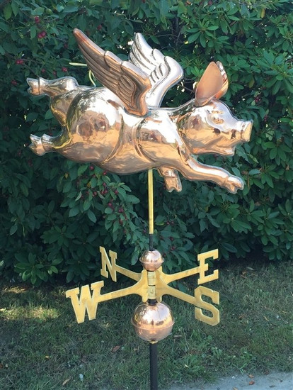Happy Flying Pig Weathervane