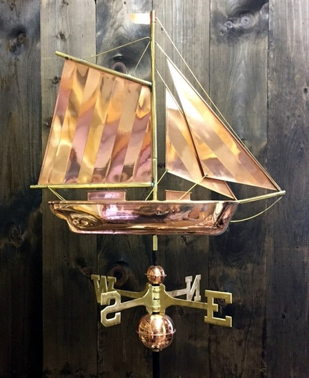 Large Sloop Weathervane 1