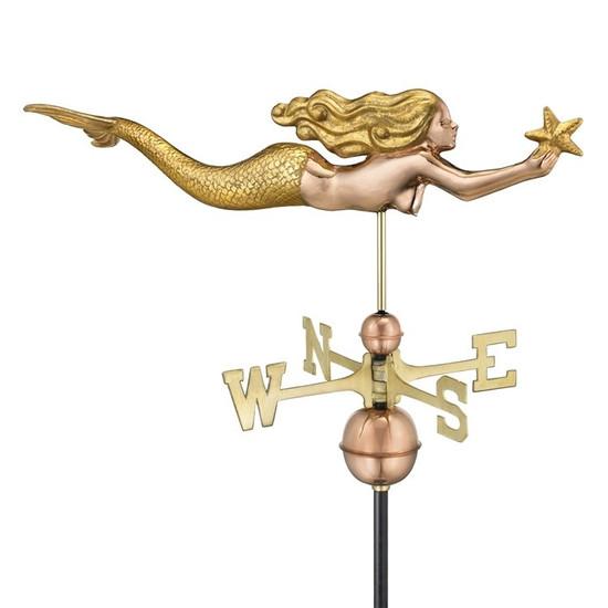 Mermaid with Starfish Weathervane
